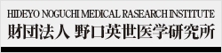 財団法人 野口英世医学研究所 HIDEYO NOGUCHI MEDICAL RASEARCH INSTITUTE
